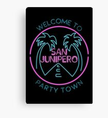 Party Town Canvas Print