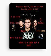 Teen Wolf Season 3 Quotes Canvas Print