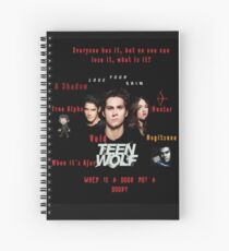 Teen Wolf Season 3 Quotes Spiral Notebook