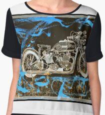 Motorbike Zen Chiffon Top