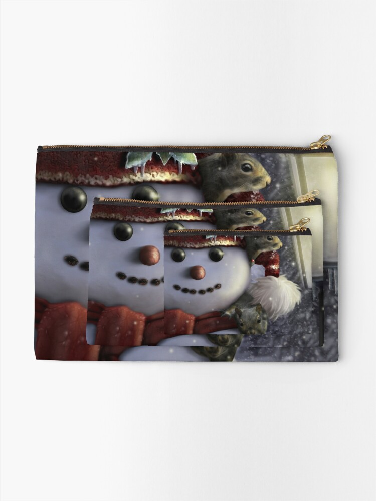 Alternate view of Holiday Friends Zipper Pouch