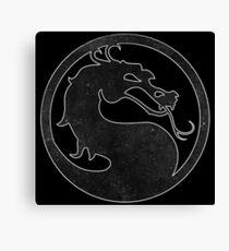 ° GEEK ° Mortal Kombat B & W Logo Canvas Print