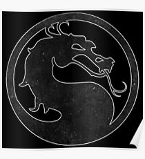 °GEEK° Mortal Kombat B&W Logo Poster