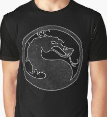 °GEEK° Mortal Kombat B&W Logo Graphic T-Shirt