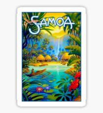 SAMOA; Vintage Travel and Tourism Advertising Print Sticker