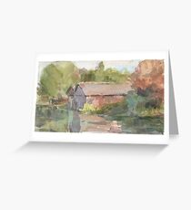 Boathouses - An Autumnal River Greeting Card