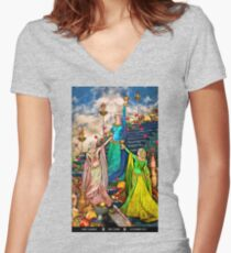 3 of Cups Women's Fitted V-Neck T-Shirt