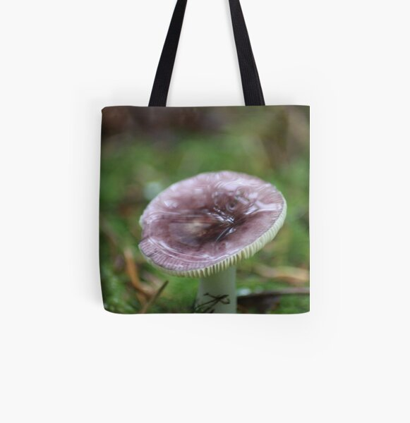 Mushroom Of The Northwest All Over Print Tote Bag