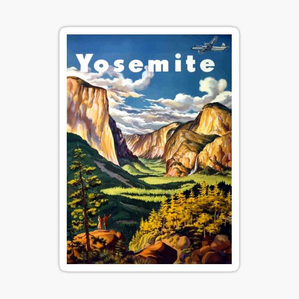 Vintage Yosemite National Park California Travel Sticker
