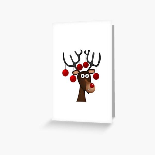 Reindeer Rudolph Greeting Card
