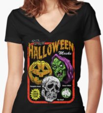 SEASON OF THE WITCH Women's Fitted V-Neck T-Shirt