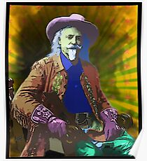 Buffalo Bill Cody - Psychedelic Poster