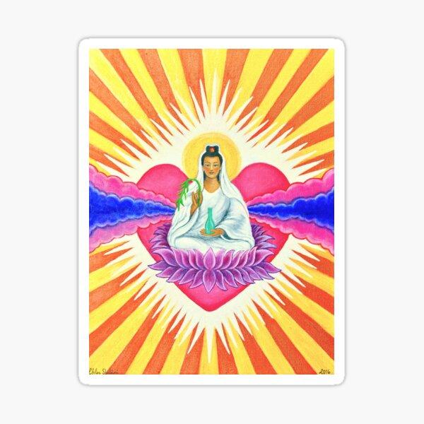 Kwan Yin, Goddess of Compassion, Divine Feminine Principle Sticker