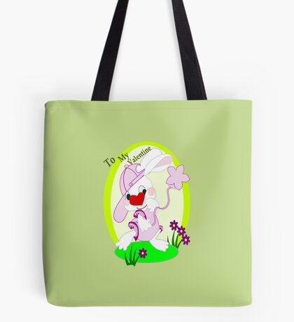 Bunny's Valentine Greeting (469 Views) Tote Bag