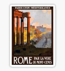 Vintage Travel Poster Ruins of Rome Sticker