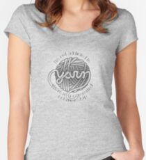 I'm Not Addicted to Yarn Women's Fitted Scoop T-Shirt