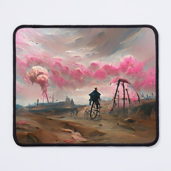 Exoplanet 007 | AI-generated classical style artwork | gan art print Mouse Pad