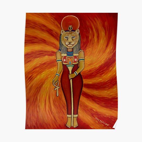 Sekhmet Egyptian Lioness Goddess  Poster
