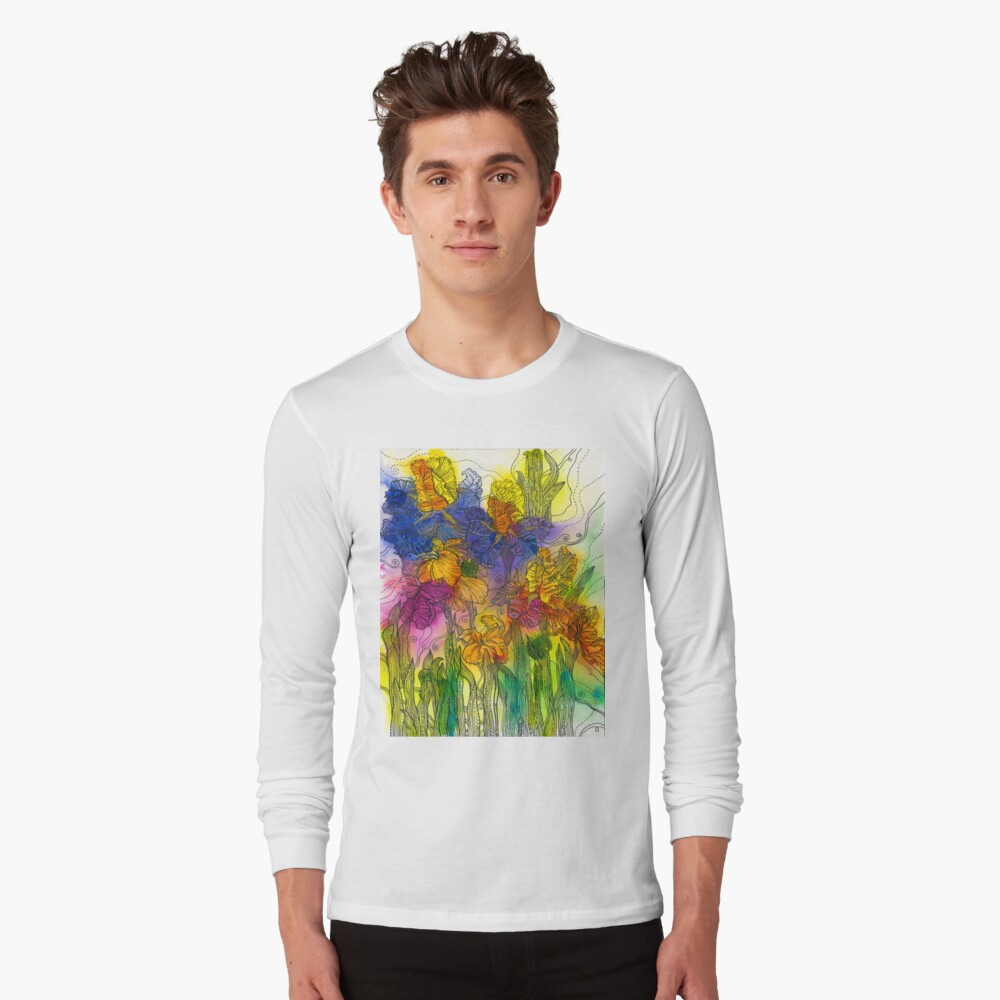 Beautiful Irises Long Sleeve T-Shirt