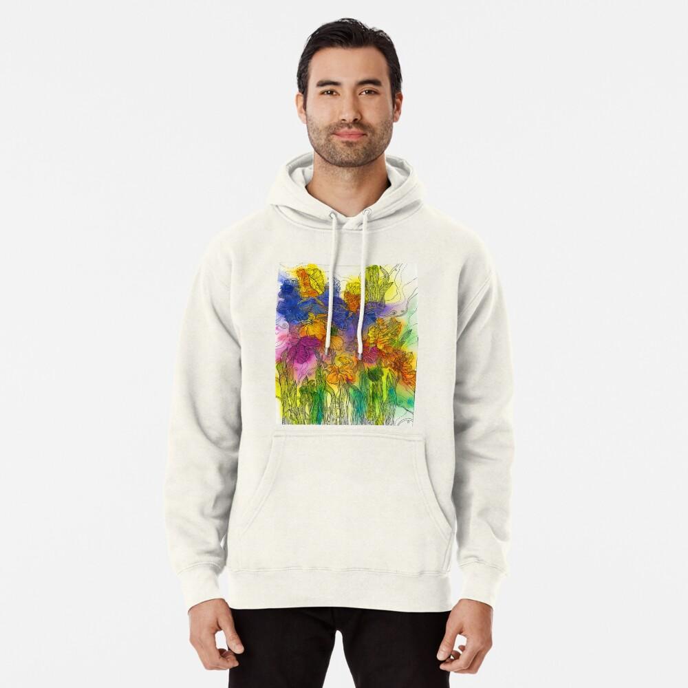 Beautiful Irises Pullover Hoodie