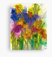 Beautiful Irises Canvas Print