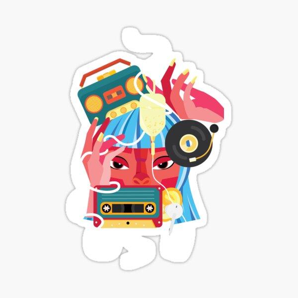 Music in my mind Sticker