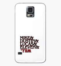 mike, dustin, lucas, eleven, will stranger things Case/Skin for Samsung Galaxy