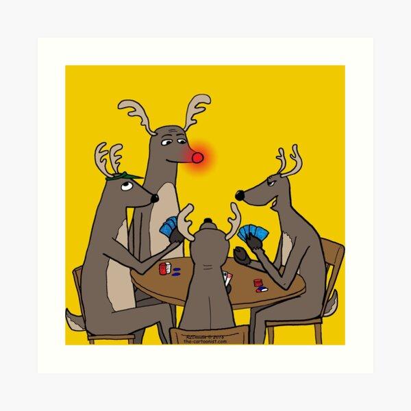 Reindeer Games Art Print