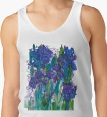 Blue Irises Tank Top
