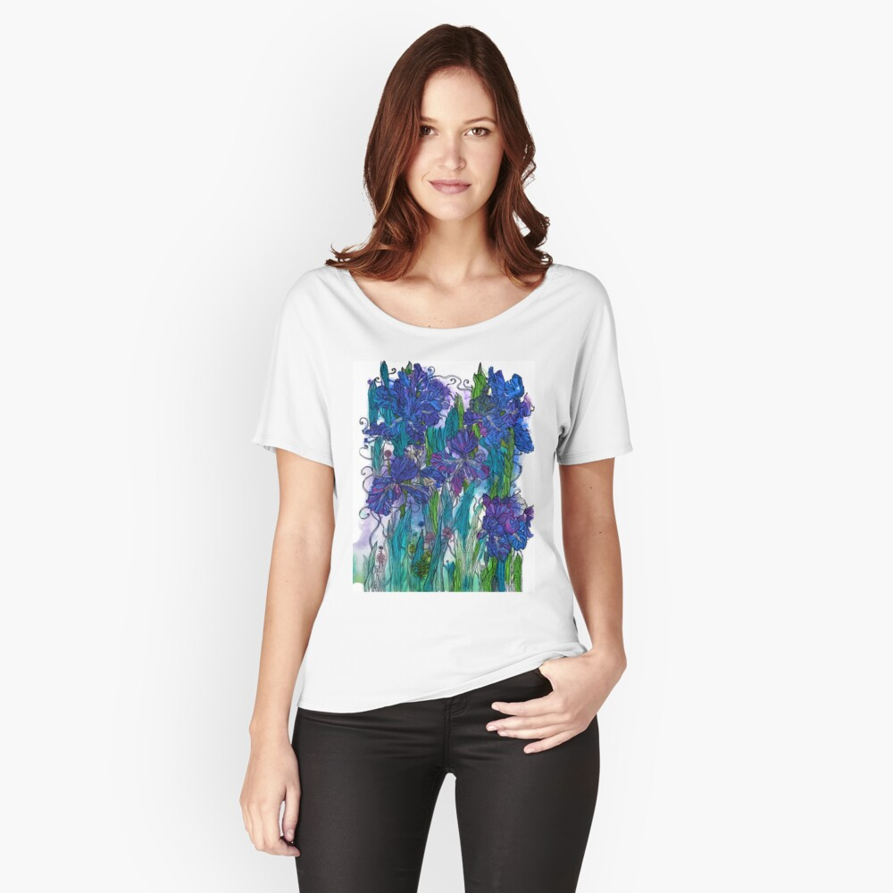 Blue Irises Relaxed Fit T-Shirt