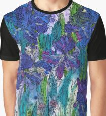 Blue Irises Graphic T-Shirt