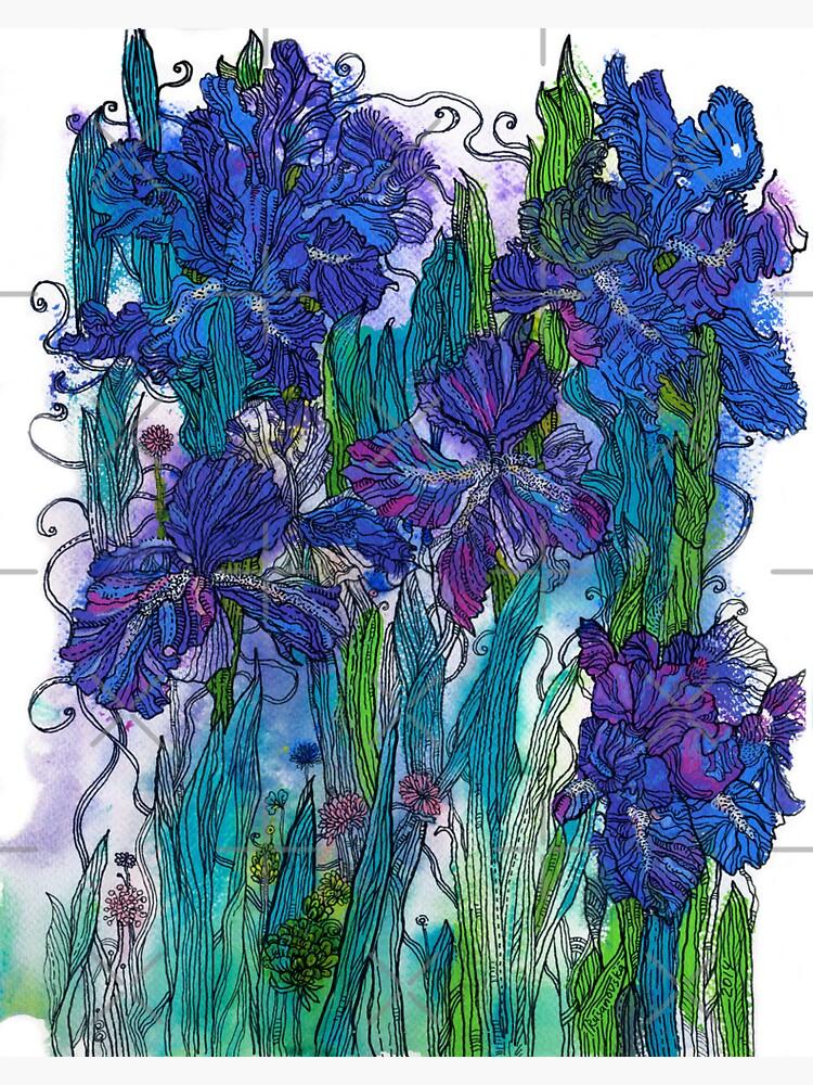 Blue Irises by rusanovska