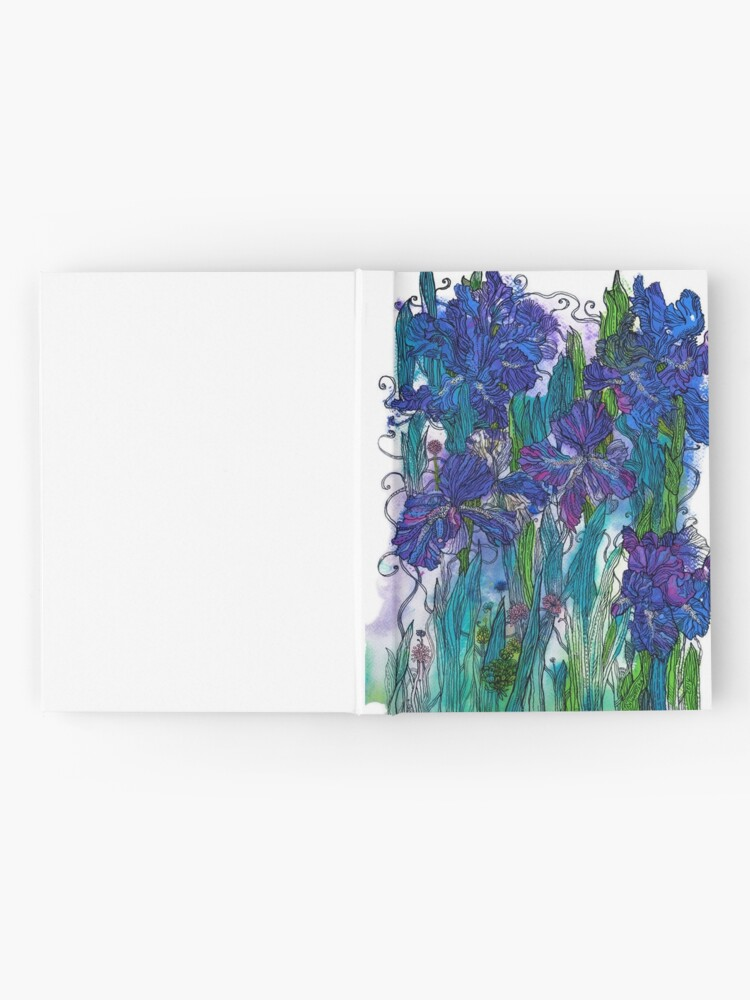 Alternate view of Blue Irises Hardcover Journal