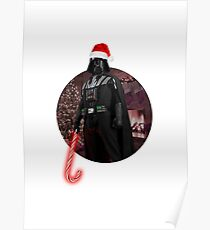 Vader Christmas Poster