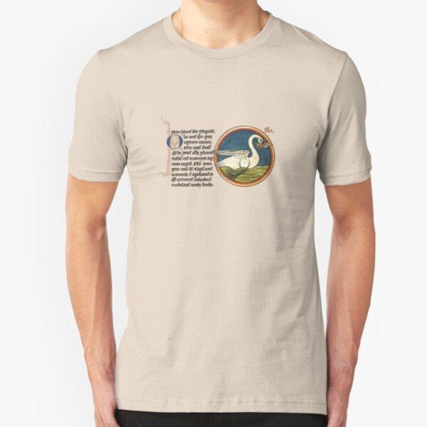 Medieval swan Camiseta ajustada