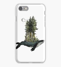 Sprouting Sea Whale - Gouache Painting iPhone Case/Skin