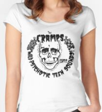 The Cramps Psychotic Teen Sounds Women's Fitted Scoop T-Shirt