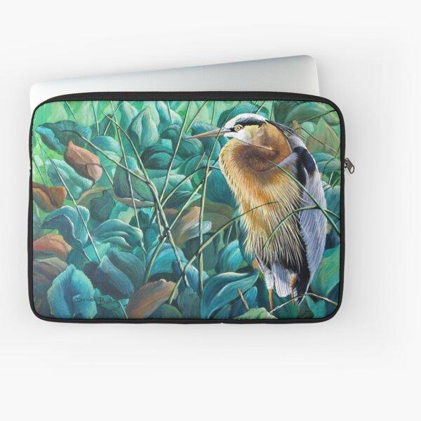 """""""Noon Siesta-Great Blue Heron"""" Laptop Sleeve"""