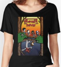 Calvin and Hobbes in the Upside Down Women's Relaxed Fit T-Shirt