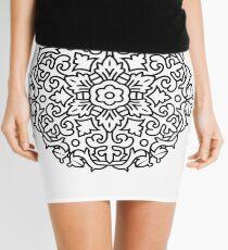 Black and white mandala original Design Mini Skirt