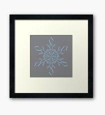 Airy Blue Sharkskin Snowflake Framed Print