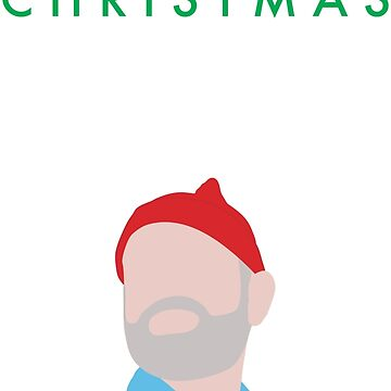 Murray Christmas Card with Bill Murray Illustration by darthfader