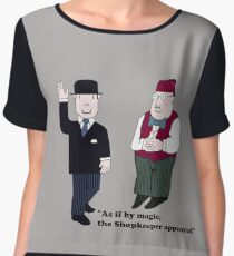 Mr Benn and the Shopkeeper Women's Chiffon Top