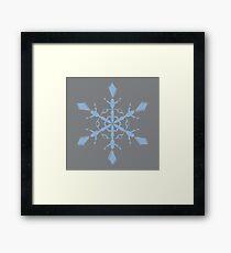 Sharkskin Airy Blue Snowflake Framed Print