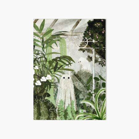 There's A Ghost in the Greenhouse Again Art Board Print