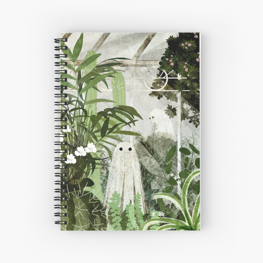 There's A Ghost in the Greenhouse Again Spiral Notebook