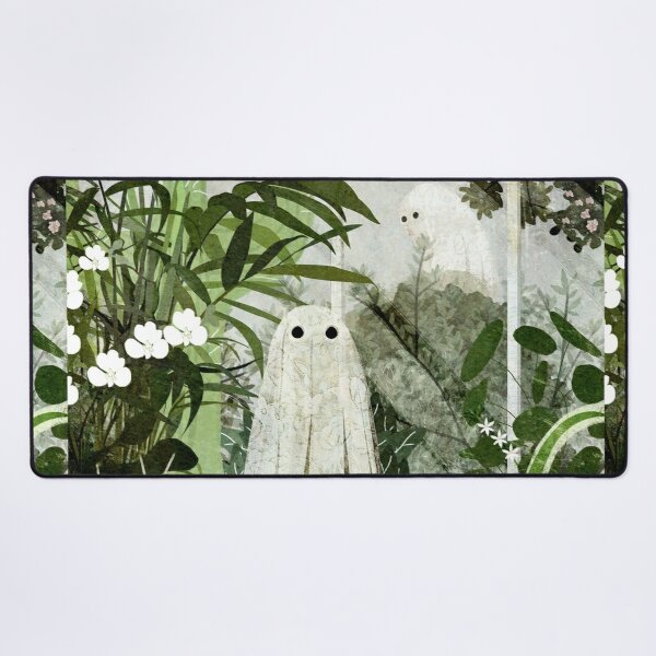 There's A Ghost in the Greenhouse Again Desk Mat