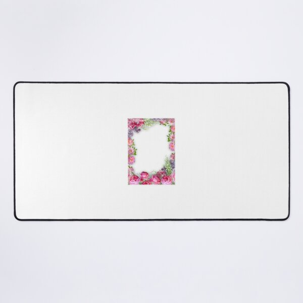 Country Peony Rose Bouquet Desk Mat