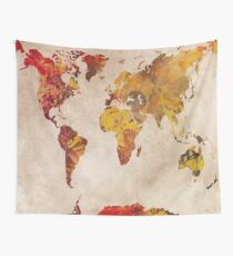 world map 24 Wall Tapestry