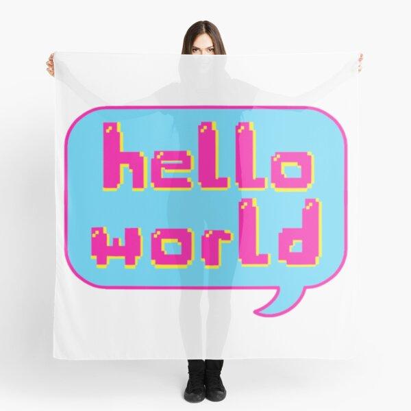 Hello world retro speech bubble Scarf